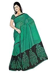Pawan Tex chiffon sree for women's (supriya02_rama green)