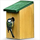 Relaxdays Nistkasten Vogelhaus für kleine Vögel Holz Natur 22 cm