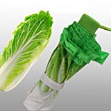 白菜模様の折り畳み傘 晴雨兼用 三つ折 手動式 UVカット 野菜模様の折りたたみ傘 8本骨3段折り 【袋なし】 KA0240