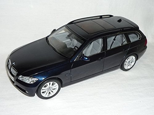 BMW-3er-3-Er-E91-330i-Kombi-Touring-Dunkel-Blau-Schwarz-2005-2012-118-Kyosho-Modellauto-Modell-Auto-SondeRangebot