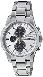 Seiko Chronograph White Dial Mens Watch - SSC083P1