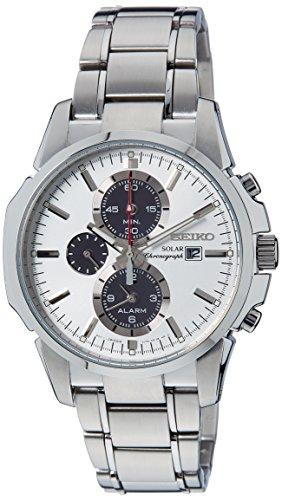 Seiko Chronograph White Dial Mens Watch - SSC083P1
