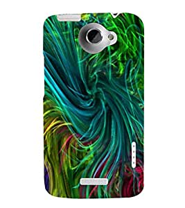 MULTI COLOURED GRASSY PATTERN 3D Hard Polycarbonate Designer Back Case Cover for HTC One X :: HTC One XT :: HTC 1X