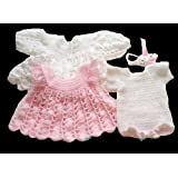 Crochet Pattern - CP32 -  Snowy Rose Dress Baby - USA terminology