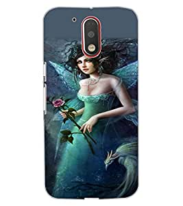 ColourCraft Beautiful Angel Design Back Case Cover for MOTOROLA MOTO G4
