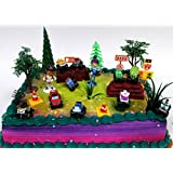 BLAZE And The Monster Machines 22 Piece CAKE Topper Set Featuring 12 Blaze Figures And Decorative Themed Accessories...