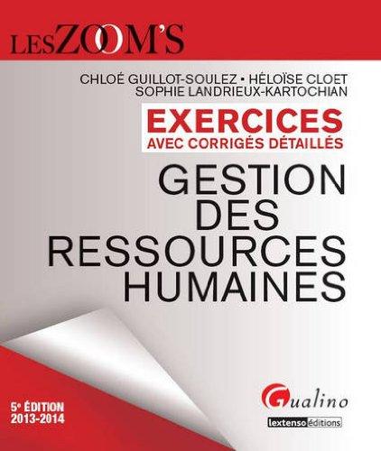 Exercices de gestion des ressources humaines avec corrigés détaillés