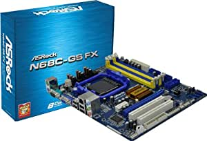 AS Rock FX Socket AM3 Plus NVIDIA GeForce 7025 A V GbE Micro ATX Motherboard N68C-GS FX