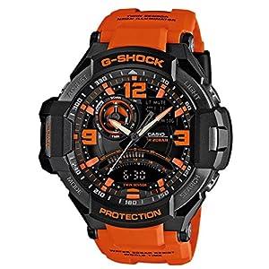 Casio GA-1000-4AER Mens Premium G-Shock Combi Orange Resin Strap Watch