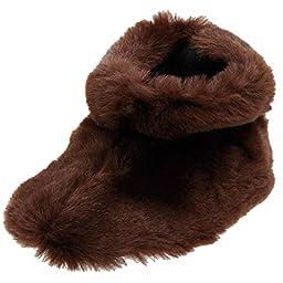 ACORN Easy Bootie Slipper (Infant/Toddler),XX-Large / 8-9 M US Toddler,Brown Bear