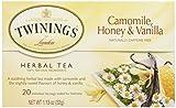 Twinings, Herbal Tea, Camomile, Honey & Vanilla, Naturally Caffeine Free, 20 Tea Bags, 1.13 oz (32 g)