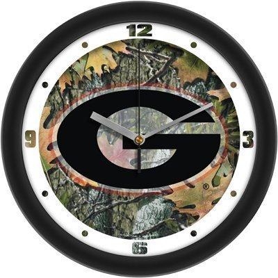 Suntime Georgia Bulldogs Suntime 12 Camo Glass Crystal Wall Clock - Ncaa College Athletics