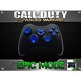 Epic Modz Xbox 360 Enhanced Custom Blue Controller - Advanced Warfare, Ghosts, Black Ops 2