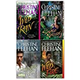 Christine Feehan Leopard 4 Books Collection Pack Set RRP: �31.96 (Wild Fire , Savage Nature , Burning Wild , Wild Rain)by Christine Feehan