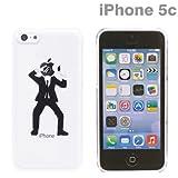 docomo au SoftBank iPhone5C 専用 Applus キャラクター ハード クリア iPhone ケース カバー ジャケット (林檎泥棒)
