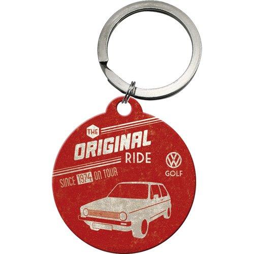 nostalgic-art-48004-volkswagen-vw-golf-the-original-ride-schlusselanhanger-rund-4-cm