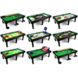 Ultimate 9 In 1 Novelty Table Top Arcade Games Toy Play Set W/ Table, Accessories