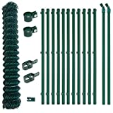 Maschendrahtzaun-Set-50m-x-10m-inkl-Pfosten-Streben-und-Zubehr-Grn-Maschendraht-Komplettset-Gartenzaun-Zaun-Zaunset-Zaunsatz