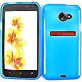 CELL PHONE COVER SOFT SILICONE RUBBER SKIN CASE FOR HTC EVO 4G LTE TPU014 TRANS DARK BLUE