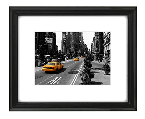 8×10 Black Picture Frame By Americanflat – For 5×7 Photos with Mat or 8×10 – 100% Glass Front, Made for Table Top, Photo Frames, Picture Frames, Desk Frames