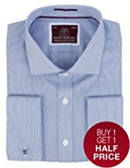 Sartorial Pure Cotton Fine Ribbed Shirt