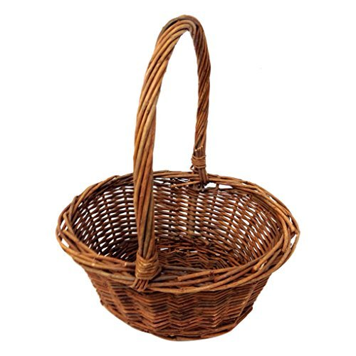 Royal Imports Oval Shaped Small Willow Handwoven Easter Basket 6