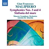 echange, troc  - Malipiero : Symphonie n° 3 et n° 4 - Sinfonia del mare