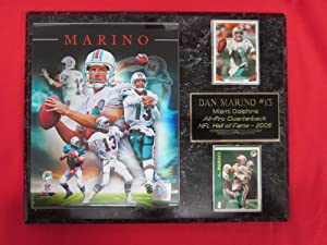 Dan Marino Miami Dolphins 2 Card Collector Plaque w  8x10 Photo NEW 2013 COLLAGE by J & C Baseball Clubhouse