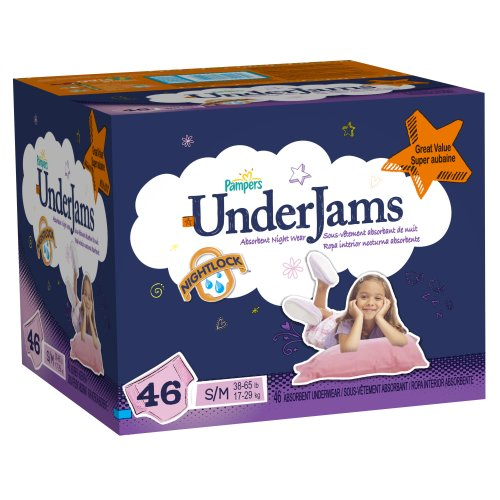Pampers Underjams Girl Diapers Big Pack Size S/M 46 Count