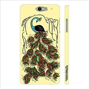 Infocos M812 Peacock Art designer mobile hard shell case by Enthopia