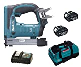 MAKITA 18V LXT BST221 BST221Z BST221RFE STAPLER, 2 x BL1830 BATTERIES, DC18RC CHARGER AND LXT400 BAG - PF TRADE