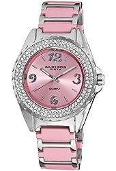 Akribos XXIV Women's Crystal Ceramic Bracelet Watch