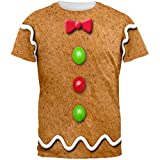 Gingerbread Man Costume All Over Adult T-Shirt - Medium