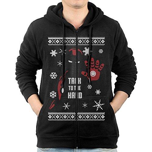Hoodie Men's Iron Man Zip Sweatshirt