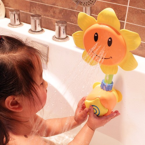 BS-FEEL-Baby-Bath-Toys-Sunflower-Shower-Spray-Bath-Play-Toys-Baby-Gifts-Yellow-or-Green