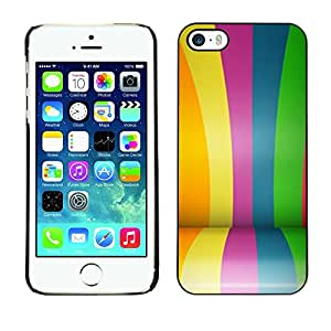 Omega Covers - Snap on Hard Back Case Cover Shell FOR Apple iPhone 5 / 5S - Colors Rainbow Gay Blue
