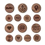 Studio Calico Atlantic Burnished Circles Veneer Scrapbook Embellishments