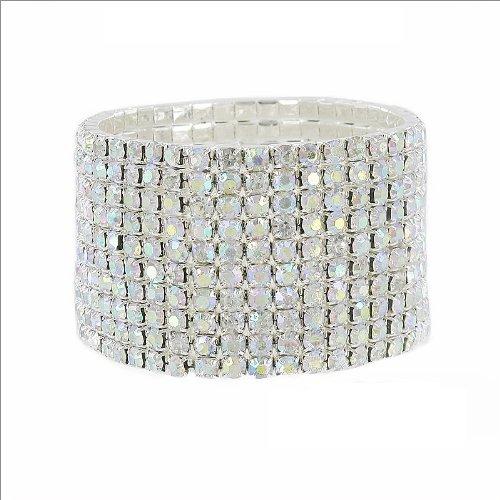 JOA Ten Line Rhinestone Stretch Bracelet #034048