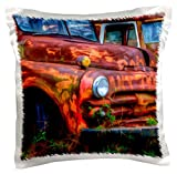 3dRose pc_143789_1 Use, Georgia, Rusty Trucks, Classics, Old Car City Us11 Jwl0585 Joanne Wells Pillow Case, 16