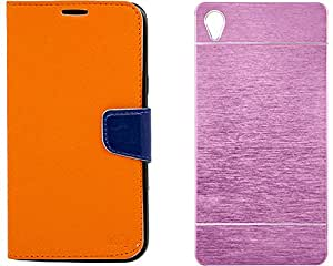 Mify Flip Back Cover For Sony Xperia Z3, Pink & Orange