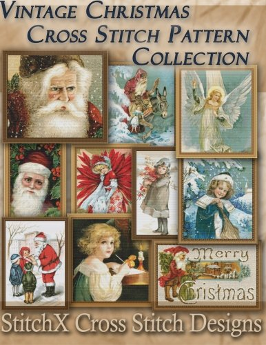 Vintage Christmas Cross Stitch Pattern Collection: Black & W