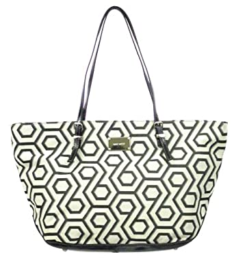Nine West Hex 9 It Girl Large (Black-Ivory-Black)