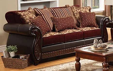 Franklin Sofa with Pillows by Furniture of America