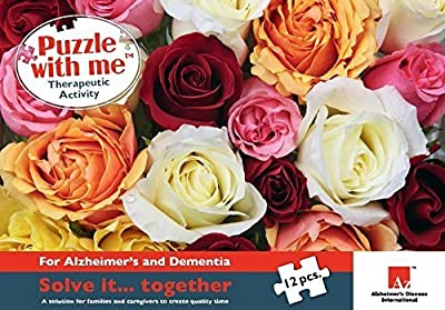 Roses for You Alzheimer's and Dementia Therapeutic Puzzle 12 Large Piece by Puzzle With Me
