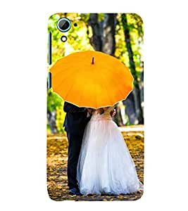 NEWLY MARRIED UNDER A YELLOW UMBRELLA 3D Hard Polycarbonate Designer Back Case Cover for HTC Desire 826 :: HTC Desire 826 Dual Sim :: HTC Desire 826 DS (GSM + CDMA)