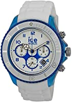ICE-Watch Chrono Party Mens Quartz Watch with White Silicone Bracelet CH.WBE.BB.S.13