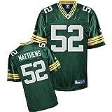 Reebok Green Bay Packers Clay Matthews Replica Jersey Extra Large
