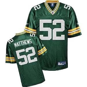 Reebok Green Bay Packers Clay Matthews Replica Jersey Small