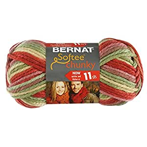 Amazon.com: Bernat Softee Chunky Ombre Yarn, Summerset