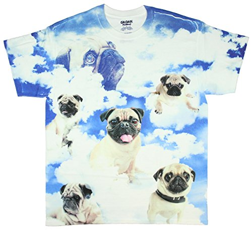 Pugs in the Clouds Pugs the Limit Graphic T-Shirt - Large